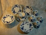 Royal Meissen Dessert Plates And Footed Cups And Saucers Set Fine China Of Japan