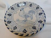 Giuseppe Dovis Designsrooster Plate Blue And White Distributed Exclusively By F