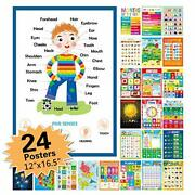 """24 Pack Educational Posters For Preschool,classroom Decorations And 12""""x16.5"""""""