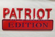 Patriot Edition Red Blue Fit All Cars Trucks Logo Emblem Quality Exterior Decal