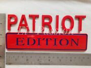 Patriot Edition Red Blue Fit All Car Custom Emblem Classic Luxury Sign Nameplate