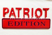 Patriot Edition Red And Blue Fit Cars Trucks Logos Custom Emblems Badge New Bumper