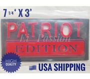 Patriot Edition Red Blue Fit All Cars Logo Emblem Auto Badge Quality Letter