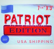 Patriot Edition Red And Blue Fit All Cars Truck Custom Emblem Rear Tailgate Symbol
