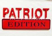 Patriot Edition Red And Blue Fit All Cars Truck Logo Emblem Bumper New Letters