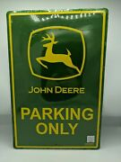 New John Deere Vintage Tractor Tin Sign Farm Collectible 18 Long 12 Wide