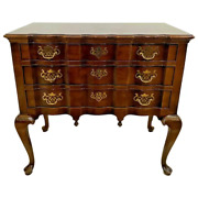 Vintage Henredon Server Buffet Sideboard Chest 3 Drawer Queen Anne Chippendale