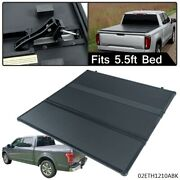 5.5ft Short Bed For Ford F-150 Extra 2015-2018 Lock Tri-fold Tonneau Cover Black