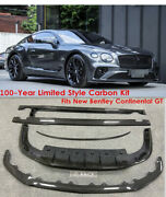 For 2018-20 Bentley Continental Gt100y Limited Style Carbon Fiber Bumper Bodykit
