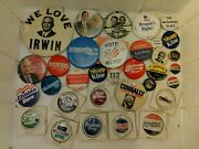 Lot Of Presidential Political Campaign Pushback Pin Buttons Nixon Carter Reagan