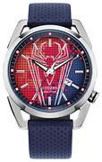 Citizen Men's Aw1680-03w Marvel Spiderman Ss Eco-drive Watch, Red