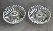 Rare Pair Antq French Baccarat Glass Bobeches Candelabra Chandelier Parts