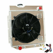 4-row Radiator+shroud Fan For 65-66 62ford Mustang / 60-65 64 Comet Falcon 5.0l