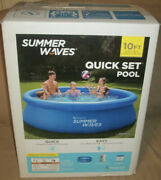 Summer Waves 10and039 X 30 Quick Set Above Ground Swimming Pool W/ Filter And Pump
