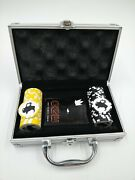 52 Piece Buffalo Wild Wings Poker Set Weighted Chips Deck Las Vegas Cards Case