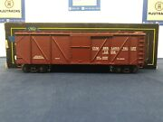 Weaver Cumberland Valley Rr 1298 Outside Braced Box Car W/ Diesel Sounds Rare