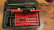 Snap On Ratchet Screwdriver Set With 2 Shafts + 41 Piece Bits Set In Green New