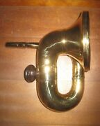Used Standard Single Twist Brass Horn For Model T Ford C. 1913