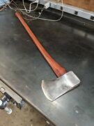 Huge Nice Red Knight Connie Single Bit Axe, 5 Lb. 8.7oz Total Ct Pattern Head