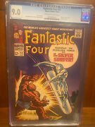Fantastic Four 55 10/66 9.0 Oww Pages Early Silver Surfer High Grade Key