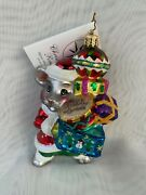 Christopher Radko Merry Mouse Magic W/ Presents And Ornaments