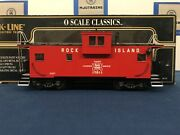 K-line Rock Island Extended Vision Smoking And Lighted Caboose K613-1391