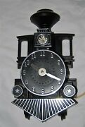 Vintage Mastercrafters Train Engine Clock - Both Light And Clock Are Working