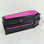 2010 Mattel Monster High Draculaura Jewelry Box Coffin Bed Fashion Doll Used