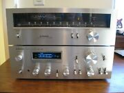 Excellent Vintage Pioneer Sa-708 Integrated Amplifier And Tx-608 Tuner Combo Rare