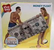 New Play Day Inflatable 100 Dollar Bill High Roller Money Swimming Pool Float