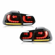 Vland For R-look Dynamic Tail Lights Smoked Lens Fit For Mk6 Gtd R R20