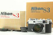 【unused In Box】 Nikon S3 Year 2000 Limited Edition Nikkor-s 50mm F1.4 From Japan