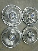 1964 Ford Galaxie Hubcaps Wheel Covers 14 Original Set Of 4 Vintage