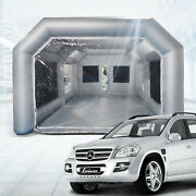 Inflatable Car Spray Paint Booth Portable Auto Job Tent 26x15x10ft Air Filter