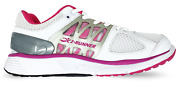 I Runner Miya Leather Whiteandpink Wide Fitting Trainers For Womens Width 6e