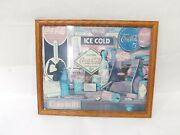 Vintage Coke Mirror Picture 1989 Through The Years Limited Edition 21x15 Hanging