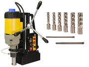 Steel Dragon Tools® Md50 Magnetic Drill Press With 7pc 2 Small Hss Cutter Kit