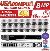 Hikvision Security System Ds-7616ni-k2/16p 4k 4mp Poe H265+ Hard Disk Included