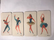 4 Mid Century Modern Ballerinas And Male Dancers Wood Wall Plaques Signed Apollo