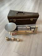 Vintage Ohaus Triple Beam Scale W/ Case And Weights
