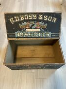 Antique C D Boss And Sons Pos Biscuit Advertising Crate-box Original Labels