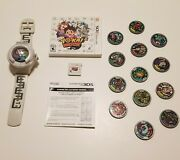 Yokai Watch Bundle With Wristwatch And Medals Authentic Tested Nintendo 3ds 2015