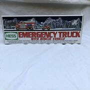 Hess 2005 Emergency Fire Truck With Rescue Vehicle Nib