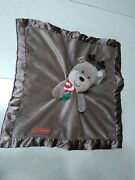 Carters Lovey My First Christmas Plush Rattle Reindeer Security Blanket Brown