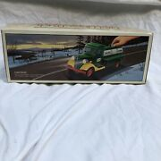 Vintage First Hess Truck Toy Bank 1985 In Original Box With Insert