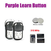 10 Pieces Garage Door Opener Remote Purple Learn Button For Liftmaster 315mhz
