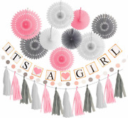 Baby Shower Decorations For Girl Its A Girl Banner Girl Baby Shower Decoration
