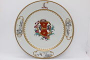 Mottahedeh Coat Of Arms Plate Dawkins Vista Alegre Limited Edition Of 250