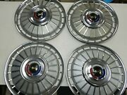 1962 Ford Galaxie Set Of 4 Hubcaps 62 Wheel Cover Vintage 14