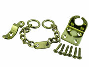 Lot Of 6 Door Chain Security Safety Lock Wing Plus Screws Brass Plated